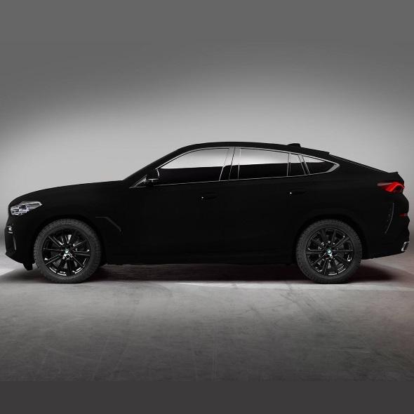 The black beast: Vantablack BMW